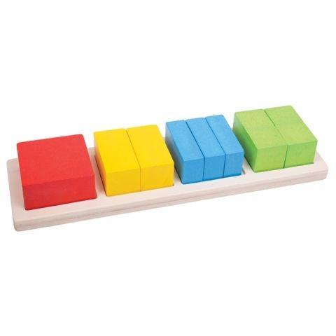 Bigjigs Vkládací puzzle zlomky - čtverce