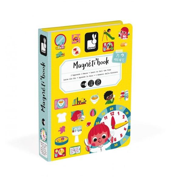 Janod Magnetická kniha Hodiny