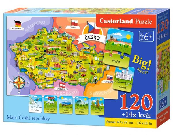 Castorland Puzzle mapa Česká republika 120 dílků