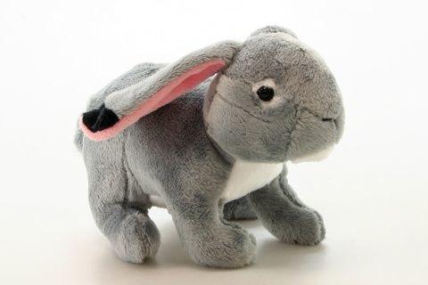 Plyš králík - šedý 18 cm