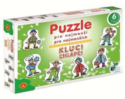 ALEXANDER Puzzle pro nejmenší Kluci, 27 dílů (6 obrázků)