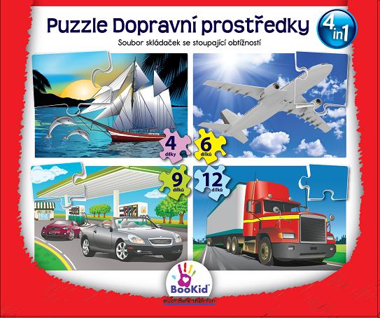 Bookid Toys Puzzle Dopravní prostředky
