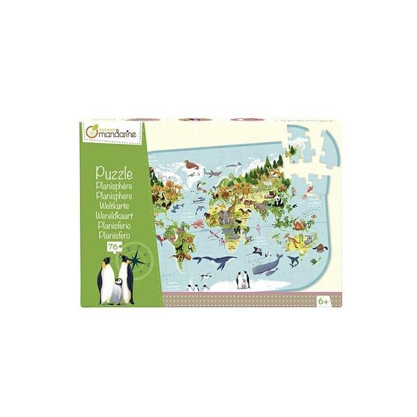 Avenue Mandarine Puzzle Zvířata na planetě 76 dílků
