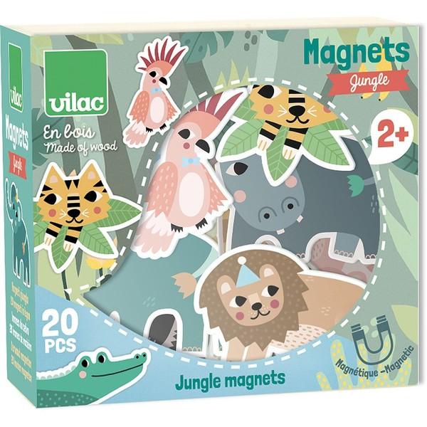 Vilac Dřevěné magnetky džungle