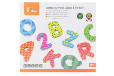Dřevěná magnetická písmena a číslice