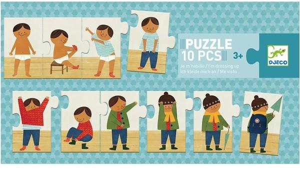 Djeco Puzzle Oblékám se - 10 dílků