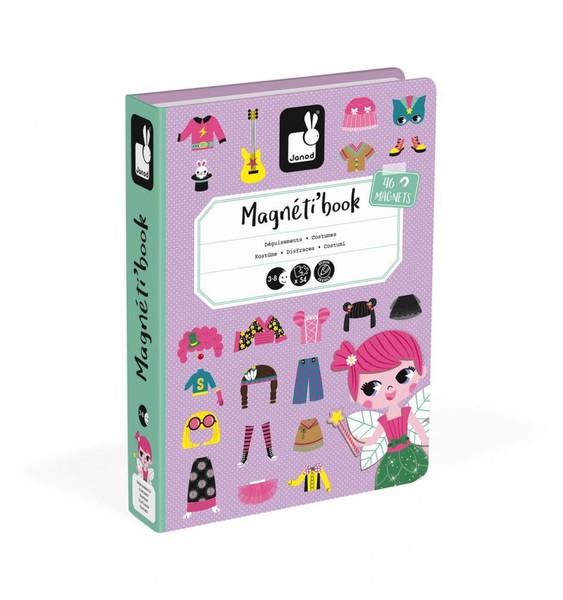 Janod Magnetická kniha Oblékání - děvčata