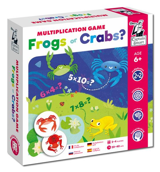Žáby a krabi - matematická hra