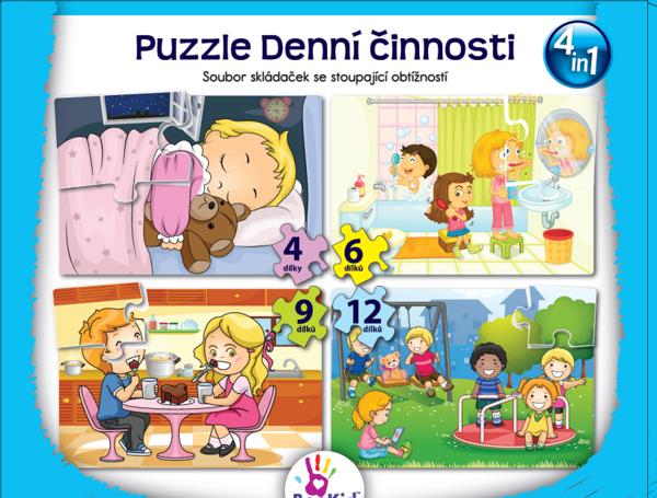 Bookid Toys Puzzle Denní činnosti