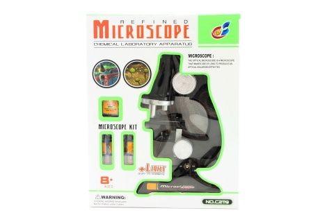 Dětský mikroskop na baterie se světlem 20 cm