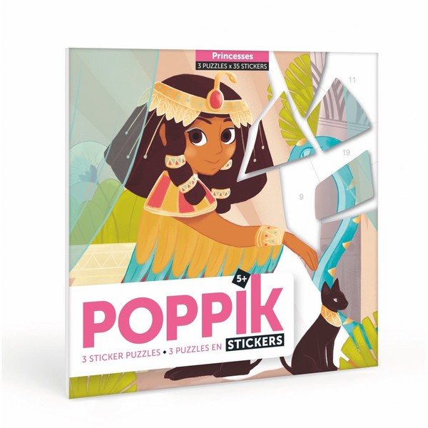 Poppik Samolepkové puzzle Princezny