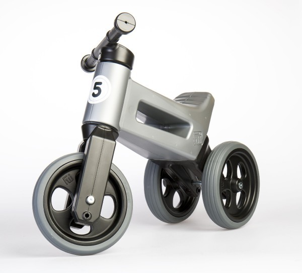 Odrážedlo Funny Wheels 2 v 1 šedé
