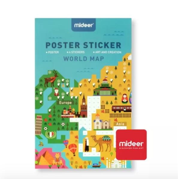 MiDeer Mapa světa - sada samolepek