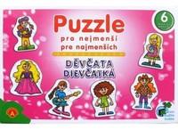 ALEXANDER Puzzle pro nejmenší Děvčata, 27 dílů (6 obrázků)
