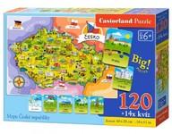 Castorland Puzzle Mapa České republiky 120 dílků